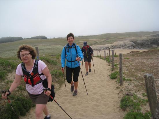 Pas facile de marcher dans le sable